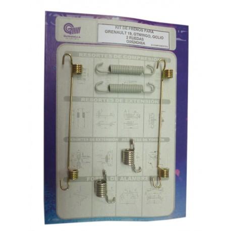 G0524346A Kit de frenos para Grenault 19, Gtwingo y Gclio (6 componentes)